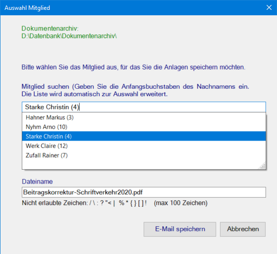 Team Hahner - Softwareentwicklung - Outlook-Add-In - Datenanbindung