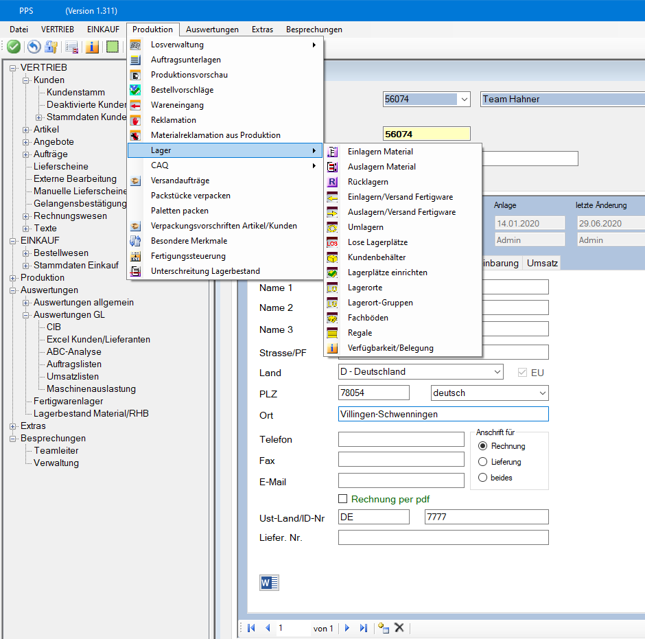 Team Hahner - Softwareentwicklung - ERP-Frontend .NET